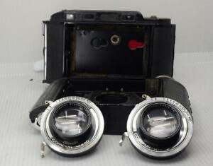 2X Voigtlander Bessa RF Compur-Rapid shutter w/ f3,5 Helomar lens