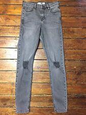 Topshop Moto Skinny Jeans Jamie Ripped Grey  Size 8 W26 Fit L32 157*
