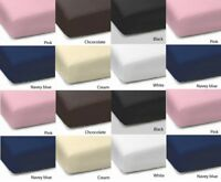 Fitted Sheets Pillow Cases Polycotton Plain Dyed Single Double Super King New