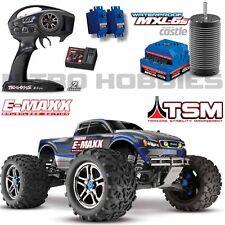 Traxxas 39086-4 1/10 E-Maxx Brushless 4WD Truck Blue RTR w/ TSM / TQi / MXL-6s