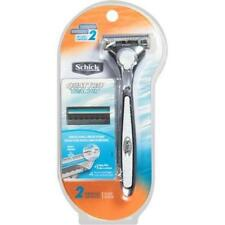 Schick Quattro Titanium Razor Handle + 2 Cartridges + Shower Hanger
