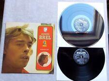 """VINYLE 33T 2 X LP MUSIQUE / JACQUES BREL """"NE ME QUITTE PAS"""" PHILLIPS 6680 259"""