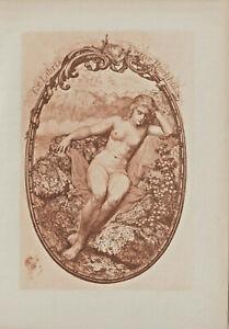 Ex libris Art Deco Erotic Exlibris by BASTANIER HANNS (1885-1966) Germany