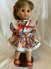 Vintage Zapf Creations 12� Girl Doll W/ Display Stand