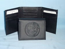 UNITED STATES ARMY   Leather TriFold Wallet    NEW    black 3  m3
