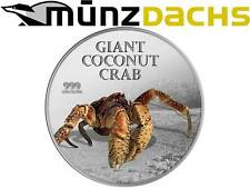$2 Dollar Giant Coconut Crab Pitcairn Island 1 oz Fine Silver 2013