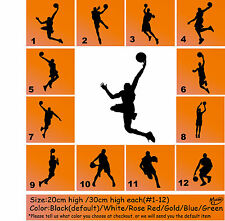 Basketball Player Dunk Dunker Removable Wall Sticker Decals Best Presents