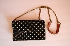 Madewell The Chain Mini bag in Calf Hair Black White Polka Dot Crossbody Purse