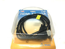 HDMI To VGA 15Pin Male Cable Adapter For HDTV LCD 1080P Display