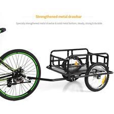 Steel Bicycle Bike Cargo Trailer Luggage Cart Carrier Shopping Garden 40kg Q6Q0