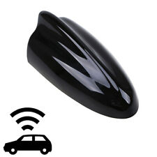 Glossy Black Car Shark Fin Antenna Aerial Mast AM/FM Roof Radio Signal Universal