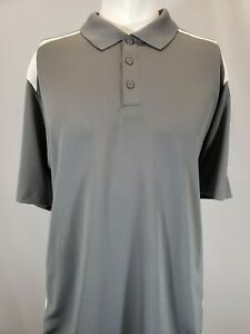 New Under Armour Men's HeatGear Two-Toned Polo, Gray/White, M, L, XL, 2XL