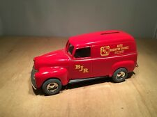 BJR RADIATOR 1950 CHEVY PANEL TRUCK DIECAST COIN BANK by ERTL #7614 1:25 SCALE