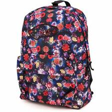 Vans Realm Classic Patch Galaxy Floral Print Backpack Bookbag New NWT