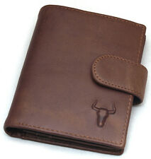 Mens Leather Clutch Wallet 6 Credit Card Holders Business Name Card Slots Purse