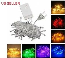 CONNECTABLE 10M 100 LED Christmas Tree Fairy String Party Lights Lamp X'mas