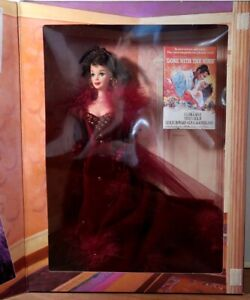 Scarlett O Hara Barbie Doll Gone With The Wind 1994 Red Wilkes Dress Damaged Box