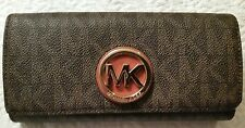 MICHAEL Michael Kors MK Fulton Carryall Wallet Brown $148 NWT