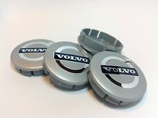 VOLVO 4 x Plastic Wheel Centre Cap Hubs with Chrome Logo 60mm/55mm NEW