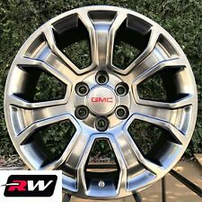 "2017 2018 GMC Sierra OE Factory Replica Wheels 5665 Hyper Silver 20"" inch Rims"