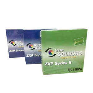 2x 800012-445 YMCK Color Ribbon & HQ Ribbon For Zebra ZXP Series 8 ZXP8 Printer