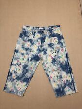 Gorman Jeans Womens ~ Size 8 ~ Great Cond 1/2 Length w/ Splatter Paint Design