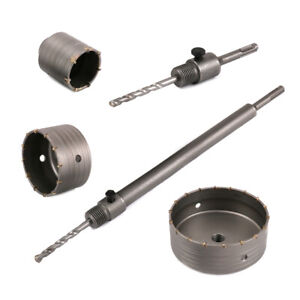 30-160mm SDS Plus Shaft Carbide Tip Drill Bit Kit Hammer Hole Saw for Wall Brick