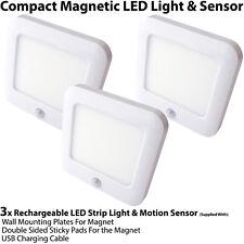3x Rechargeable Magnétique Lumière Del & Capteur Mouvement – Placard / Armoire