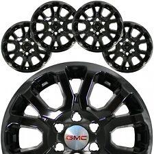 "4 Black 2014-19 Gmc Sierra 1500 Yukon 18"" Wheel Skins Hub Caps Alloy Rim Covers"