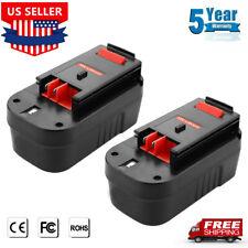 HPB18 For Black & Decker HPB18-OPE2 18V Battery 244760-00 HPD1800 FSB18 HP188F2B