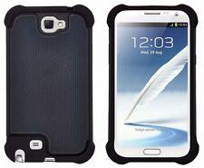 Étuis, housses et coques noirs Samsung Galaxy Note en silicone, caoutchouc, gel pour téléphone mobile et assistant personnel (PDA)