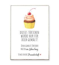 FREUNDSCHAFTSTÖRTCHEN Kunstdruck Poster Sprüche Bild Freundschaft Schrift Spruch