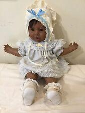 "1984 Hasbro Real Baby African Black Baby Girl Doll 20"" Adorable Turner 1984"