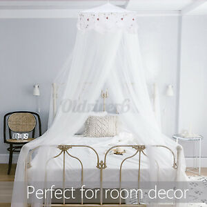 Jeteven Princess Dome Mosquito Net Cute Lace Light Mesh Bed Canopy Bedroom Decor