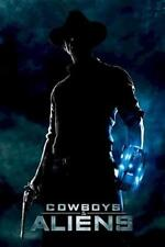 COWBOYS AND ALIENS ~ JAKE SILHOUETTE 24x36 MOVIE POSTER Daniel Craig NEW/ROLLED!
