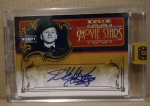 2008 Donruss Americana Celebrity Cuts Movie Stars Autograph Mickey Rooney #02/18