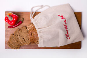 Brotbeutel aus 100% Leinen, mit Kordel