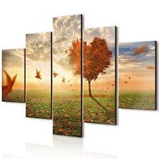 Lupia Vogue quadro Multipannello Foglie al vento legno Multicolore 66x115x0.8