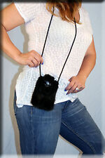 New Iphone 6 Case Black Mink Fur  - Efurs4less