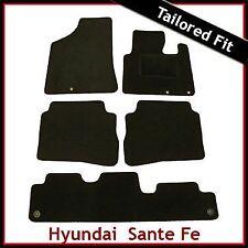 HYUNDAI SANTA FE Mk2 2010-2012 7-Seater Tailored Carpet Car Floor Mats BLACK