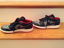 Nike Air Jordan Retro Low Black/Cement Grey/Red Boys Youth Size 6 Red Sole