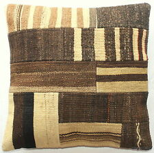 (50*50cm, 20inch) Turkish handwoven kilim cushion cover natural patchwork 11
