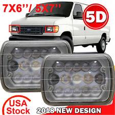 """For Ford E-150 E-250 E-350 Van 7x6'' 5X7"""" 5D LED Projector Headlight Hi-Lo Beam"""