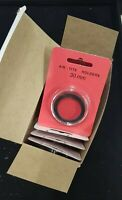 10 AirTite H30 BLACK Ring Coin Capsules 30mm For US Half Dollar 1837-present NEW
