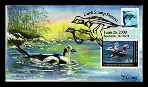 US COVER DUCK STAMP $15 LONG TAILED DUCK FDC COMBO DORIS GOLD HAND COLORED