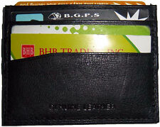 New Leather business card ID card case, Black Leather 7 card holder Unbranded BN