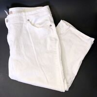 Chicos White Cropped Jeans Size XL Size 3 Stretch Womens Capri Pants