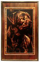 Regalo intarsiato del pannello di arte del legno del ritratto dell'animale...
