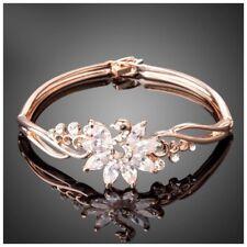 S1 Made Using Swarovski Crystals The Shanta Rose Gold Swan Bracelet $96