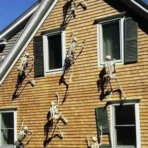 90CM Scary Halloween Props Luminous Hanging Skeleton Outdoor Party Decorations